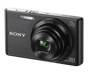 New Sony Cyber-Shot Compact 20.1 MP 8x Optical Zoom Digital Camera DSCW830/B