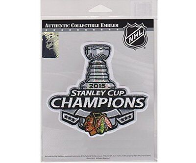 Chicago Blackhawks 2015 Stanley Cup Champions Patch Authentic Collectible -