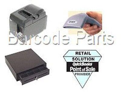 Quickbooks Pos 18.0 Citizen Hardware Pos Bundle 1 Printer Scanner Cash Drawer