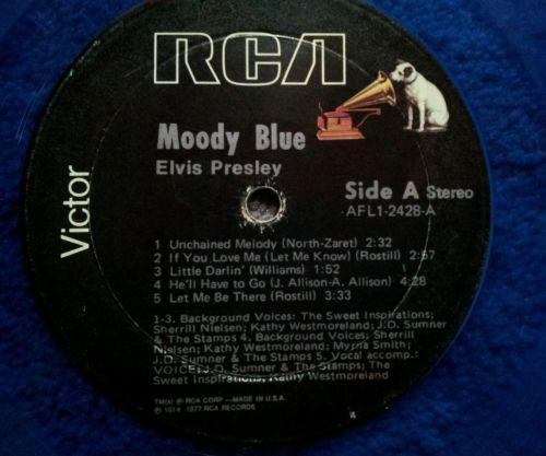 Elvis Presley Moody Blue Vinyl Ebay