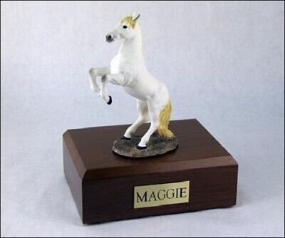 Horse White Figurine Funeral Cremation Urn Available in 3 Diff Colors & 4 Sizes ()