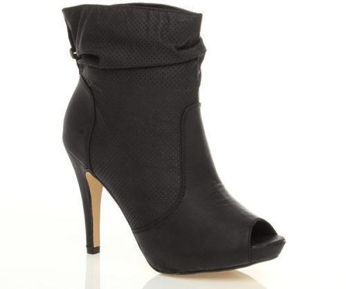 Peep Toe Ankle Boots Ebay