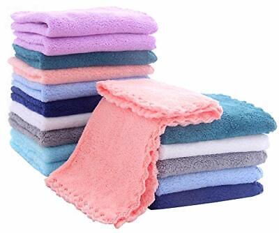 Multicolor Coral Fleece Baby Washcloths For Newborns Infants And Toddlers 16 Pcs