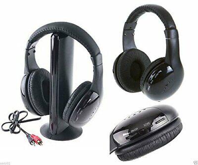 Cuffie Stereo Wireless Senza Fili WIFI Cuffia per Pc Tv Mp3 bluetooth