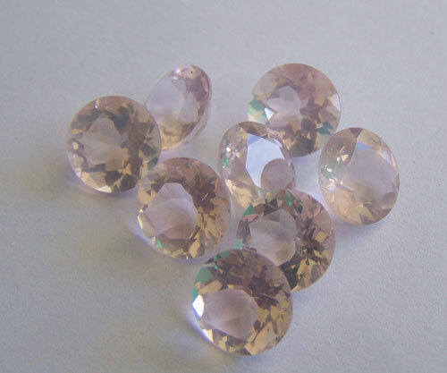 NATURAL ROSE QUARTZ FACETED CUT ROUND CALIBRATED LOOSE QUARTZ GEMSTONE