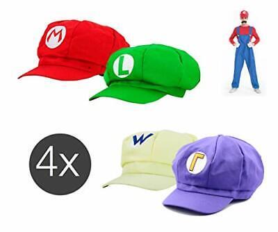 Set Mario Super Zubehör Kostüm Verkleidung Accesoire und Mütze Cap Kappe  ()