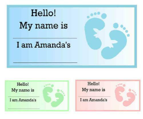 baby shower name tags ebay