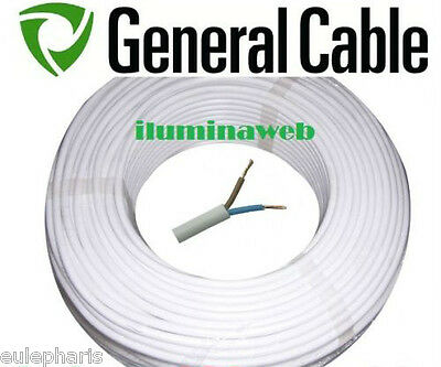 Corte x metro, 2 metros Manguera blanca flexible 2x1.0mm2,Cable electrico 1500w