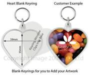 Blank Heart Keyrings