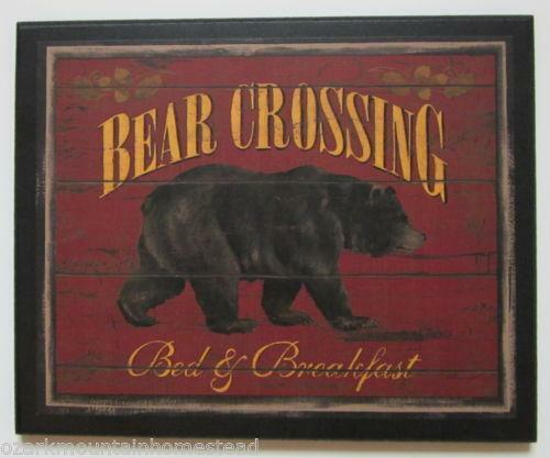 Rustic cabin decor ebay for Rustic bear home decor