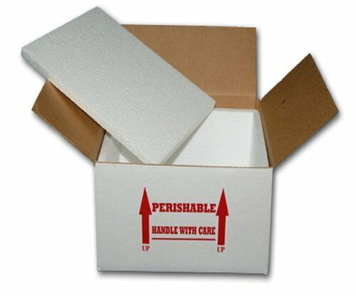 """Insulated Shipping Box  8"""" x 8"""" x 7""""      With  1/2"""" Foam     One Box"""