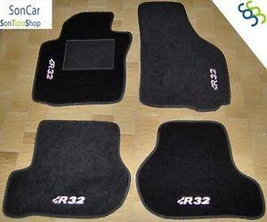 volkswagen golf v 5 r32 tapis voiture 4 pi ces 4 bloc ebay. Black Bedroom Furniture Sets. Home Design Ideas