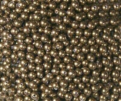 4 MM -100 - Antique Brass New Vintage Swarovski Crystal Pearls ~ 3 Available