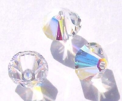 Swarovski bicone Austrian crystal beads faceted Crystal AB 3mm 4mm 5mm 6mm 8mm