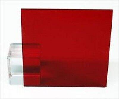 Red Transparent Acrylic Plexiglass Sheet - 18 X 12 X 12 2423