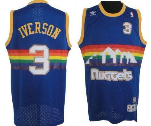 Image result for allen iverson nuggets throwback
