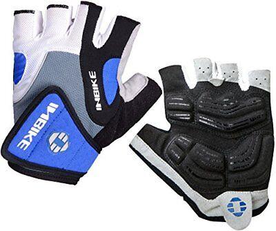 INBIKE Bike Gloves Men Half Finger Bicycle Gloves 5mm Gel Pa