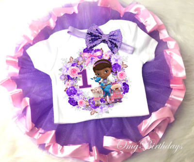 1st-7th Birthday Doc Mcstuffins Girl Tutu Shirt Outfit Custom Age Year Party - Doc Mcstuffins 1st Birthday Party