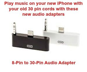 8 To 30 Pin Adapter Cable, Audio Adapter For iPhone iPad iPod