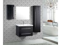 3 PIECE WALL MOUNTED WASHBASIN CABINET SELL WITH MIRROR, BRAND NEW IN ORIGINAL PACKAGE