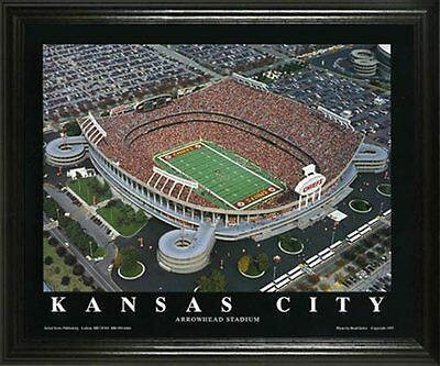 KANSAS CITY CHIEFS @ ARROWHEAD STADIUM 22X28 FRAME ()