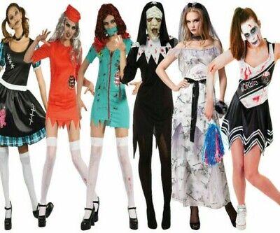 Damen Zombie Halloween Kostüm Ausverkauf Gefangener Puppe Braut