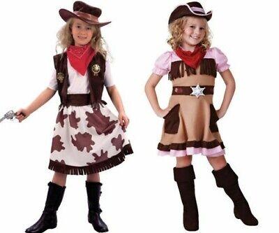 Kinder Mädchen Cowgirl Cutie Kostüm Cowboy Wilder Westen Kostüm Kind Outfit (Mädchen Cowgirl Cutie Kostüm)