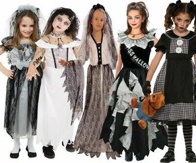 Zombie Mädchen Kostüm Gothic Braut Kostüm Outfit Halloween Kinder - Gothic Mädchen Kostüm