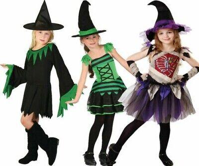 Mädchen Halloween Hexe Kostüm Outfit Kinder Party Hexen Alter 3-1