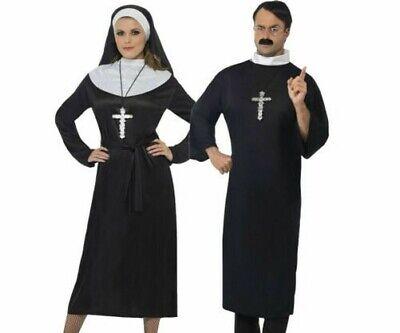 Damen Nonne Herren Priester Paar Kostüm Kostüm Vikar Nonne Neu - Priester Nonne Kostüm