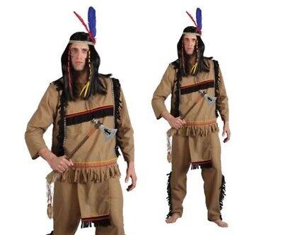 Herren Tapferen Indian Krieger Kostüm Apache Wilder Westen - Krieger Kostüme Weste