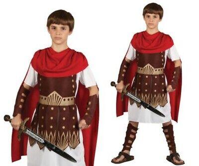 Armee Kinder Kostüme (Kinder Römischer Centurion Gladiator Armee Soldat Jungen Kostüm Outfit Alter)