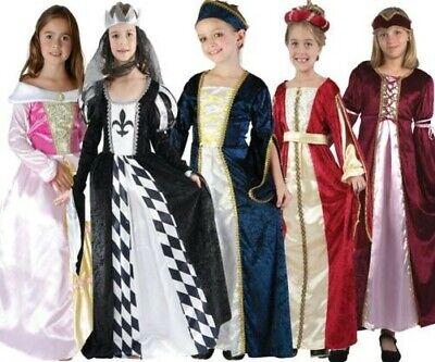 Kinder Regal Prinzessin Kostüm Mädchen Mittelalter Tudor Buch Woche Tag - Buch Kostüm Mädchen