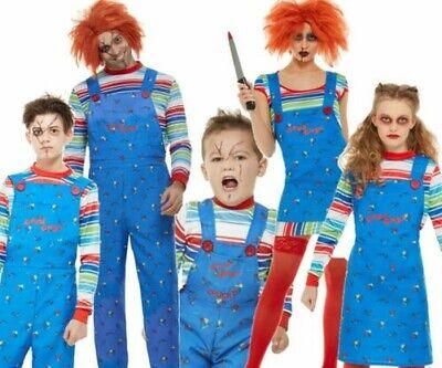 Erwachsene Chucky Kostüm Herren Damen Kinder Halloween Kinder Play Puppe Kostüm