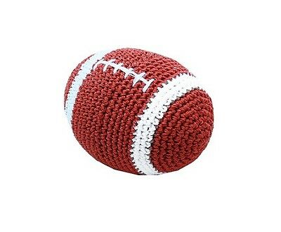Knit Knacks Snap the Football Organic Cotton Small Dog Toy by: Pet Flys