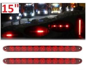 2 NEW LED STOP TURN TAIL LIGHTS 15 T10-RR00-1 239521670 RV Trailer Truck Camper Car Motorcycle