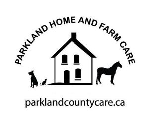 Pet sitting and farm care for Parkland County & area