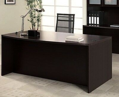 New Amber Bow Front Executive Office Desk Shell