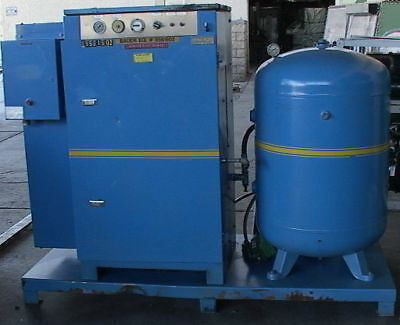25hp Bauer Rotary Screw Air Compressor120 Gallon Tank