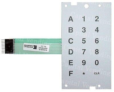 Dixie Narco Bev Max 4 Soda Vending Machine Selection Membrane - New 80410142