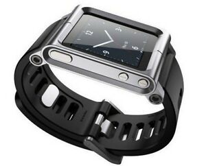 Aluminum-LunaTik-multi-touch-watch-band-for-ipod-nano-6-6th-Sliver