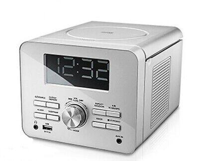 UHRENRADIO MIT CD PLAYER und USB  WEISS KÜCHENRADIO WECKRADIO RADIOWECKER (Uhr Mit Cd-player)
