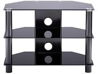 3-shelf black TV STAND for up to 32 inch television. Alphason
