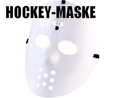Halloween Fastnacht Hockey-Maske Hockeymaske Helloween Maske Hockymaske weiß