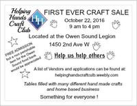 Helping Hands Craft Club First Ever Sale