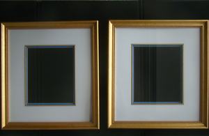 Gold picture frames, matted, with glass West End Brisbane South West Preview