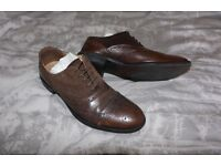 Brown Suede x Leather Brogues Shoes ASOS Size 6