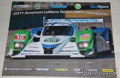 2011 Dyson Racing Mazda Lola LMP1 Petit Le Mans ALMS postcard