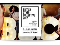 2 x Sunday 2 x tickets to British style collective Liverpool last chance no postage instant