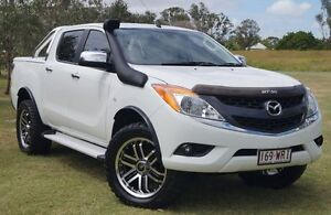 2012 Mazda BT-50 UP0YF1 GT White 6 Speed Manual Utility Bundaberg West Bundaberg City Preview